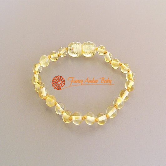 Fancy Amber Baby - Lemon Round Bracelet