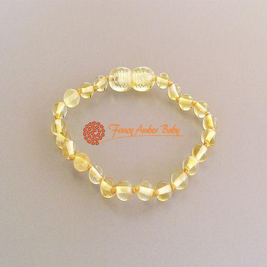 Fancy Amber Baby - Lemon Round Bracelet
