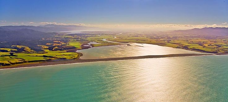 The Wairarapa, Lake Onoke foreground, Lake Wairarapa distant,   see more at New Zealand Journeys app for iPad www.gopix.co.nz