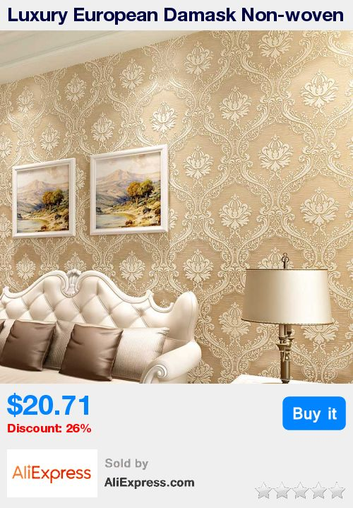 Luxury European Damask Non-woven 3D Stereoscopic Embossed Wallpapers For Living Room Bedroom TV Background Thicker Wallpaper * Pub Date: 04:02 Jul 8 2017