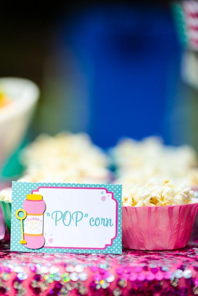 """Bubble Party food - """"POP""""corn"""
