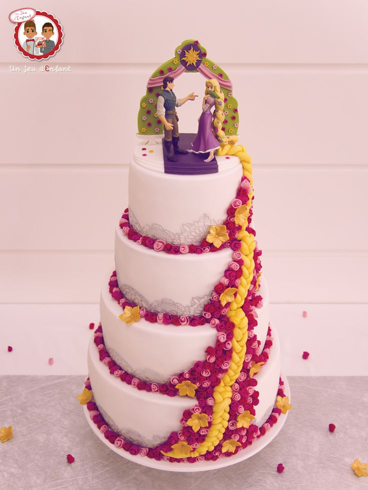 434 best images about disney 39 s tangled cakes on pinterest - Decoration gateau raiponce ...