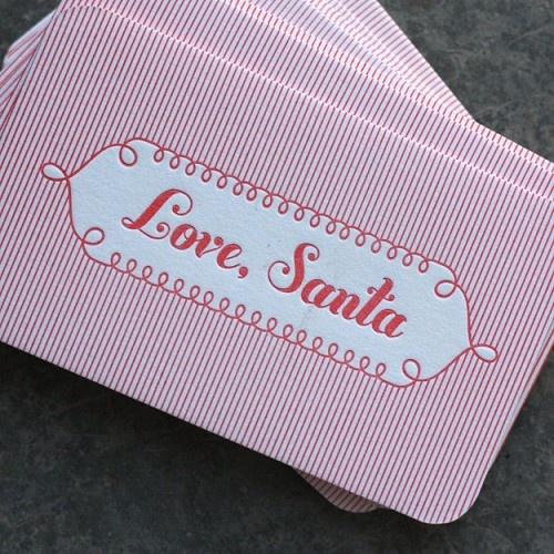 Gift tags: Christmas Cards, Dingbat Press, Holiday Ideas, Business Cards, Santa Tags, Santa Letterpress, Gift Tags, Letterpress Tags