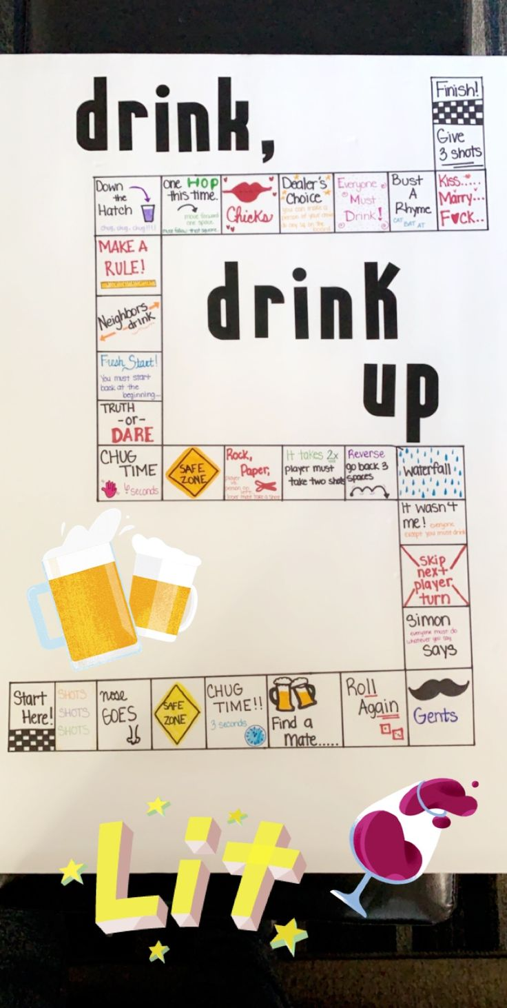 DIY drinking board game  – Trinkspiel party