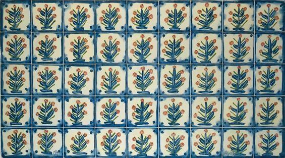 Manuel Cargaleiro | Painel de azulejos / tiled panel | 1985 | Museu de Cerâmica #Azulejo #ManuelCargaleiro