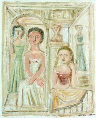 """Massimo Campigli, Il gineceo Museo di Arte Moderna """"Mario Rimoldi"""", Cortina d'Ampezzo"""