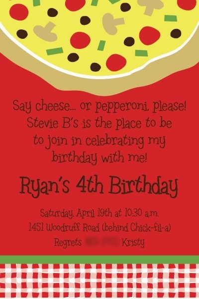 16 best Pizza Party Birthday images on Pinterest Anniversary ideas - best of invitation birthday party text
