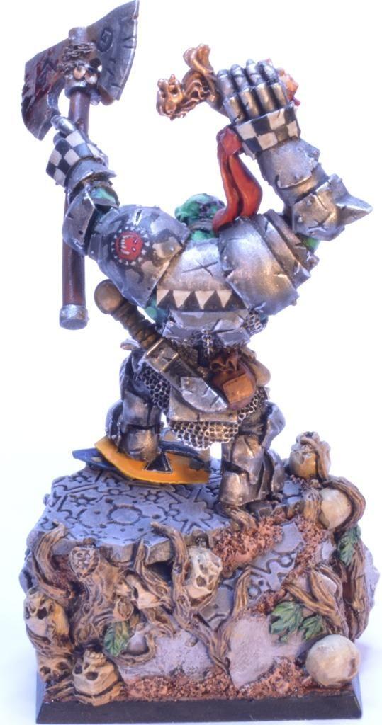 Black Orc, Grimgor Ironhide, Orcs, Warboss By Midget Gems