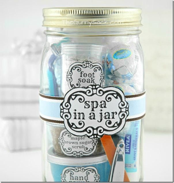 Spa In A Jar - imagine this filled with your favorite Arbonne goodies as a hostess gift!! Love it!