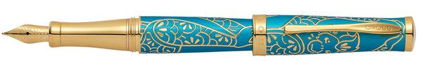Cross Year of the Monkey - Teal Lacquer Fine Point Fountain Pen
