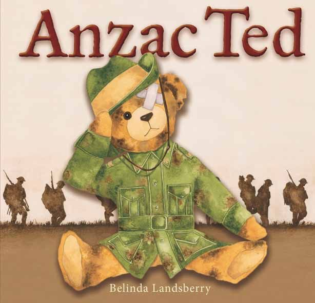 """""""Anzac Ted"""", by Belinda Landsberry - Anzac Ted is the powerful, poignant story of a little boy's teddy bear that was passed down to him from his grandfather. Battered, torn, missing an eye and an ear, he might look scary but he's got a great story to tell."""