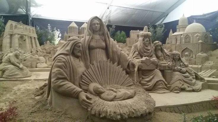 Presepe di sabbia 2015 a #Rimini