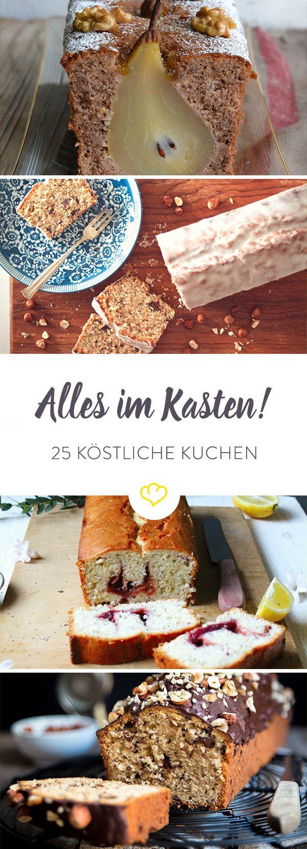 Unsere Foodblogger haben echt was auf dem Kasten. Und im Kasten: Von süßem Schoko- bis herzhaftem Kürbiskuchen gibt's hier 25 Mal Kucheninspiration satt.
