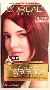 Loreal Paris Superior Preference Hair Dye Color RR04 Intense Dark ...