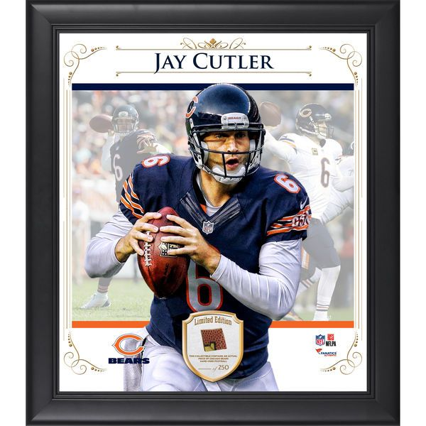"""Jay Cutler Chicago Bears Fanatics Authentic Framed 15"""" x 17"""" Composite Collage with Piece of Game-Used Football-Limited Edition of 250 - $89.99"""