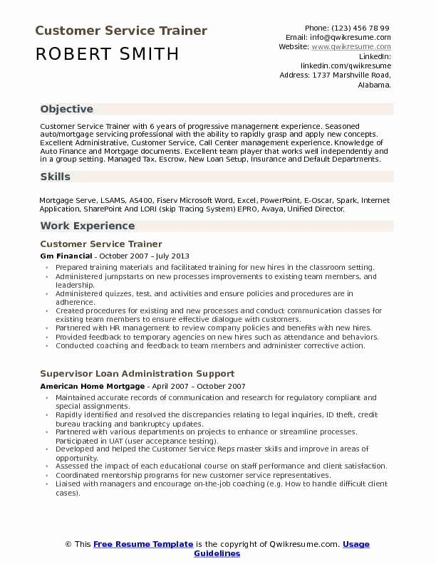 Strong Resume Headline Examples Beautiful Customer Service Trainer Resume Samples In 2020 Resume Examples Professional Resume Examples Basic Resume