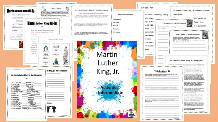 87 best classroom ideas images on pinterest classroom ideas no prep activity packet includes dr martin luther king jr fandeluxe Image collections