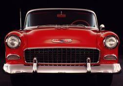 1955 Chevrolet Bel Air Convertible (2434-1067D) retro   y wallpaper
