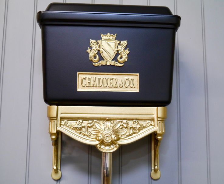 Our Blenheim Toilet Cistern in bespoke colours, gold leaf style and satin black. #toilet #interior #interiordesign #architecture #instadecor #interiorinspo #interiorinspiration #interiors #style #inspo #inspiration #decor #theworldofinteriors #cloakroom #luxury #mansion #home #homedecor #interiordesigner #design #homedesign #gold #elledecor #instagood #interiorinspiration #interiors #homedesign #decoration #decorlovers #instaluxe #vogueliving #interiordecorating #blackandgold