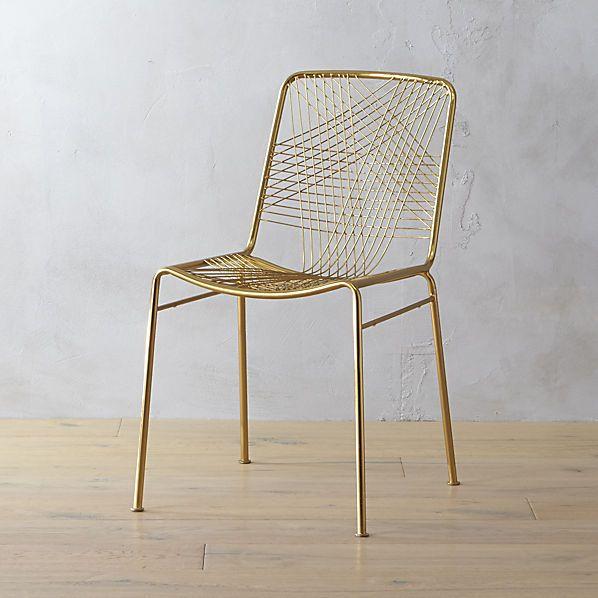 alpha brass chair    CB2