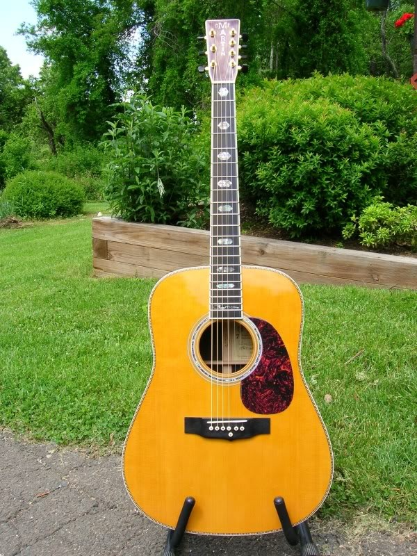 Martin HD-7 Roger McGuinn. This signature guitar of the Byrds' frontman is a 7-string guitar but not like most. The 7th string doubles the G-string so as to mimic Roger's famous 12-string sound when playing chords without the hassle of all the extra strings when playing leads and bass lines.