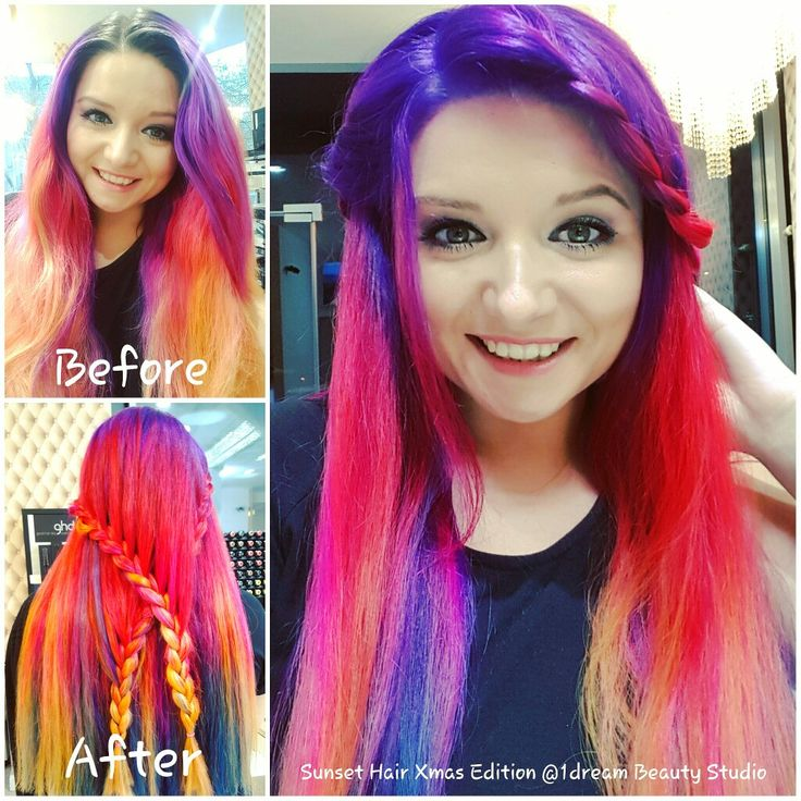 Sunset hair XMAS edition before&after