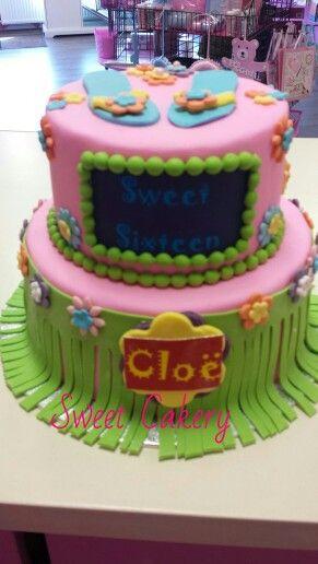 Hawaii taart.  Www.sweetcakery.nl Amersfoort