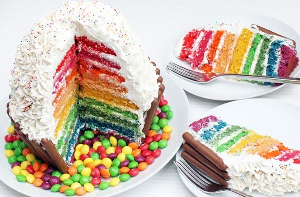 Giant rainbow cupcake  - Our best birthday cake recipes for kids