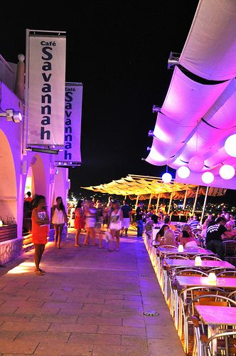 Savannah Beach Club, Ibiza sunset restaurant in San Antonio