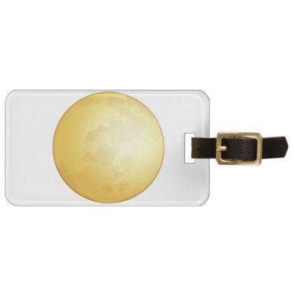 #Full moon - Emoji Luggage Tag - #luggage #tags