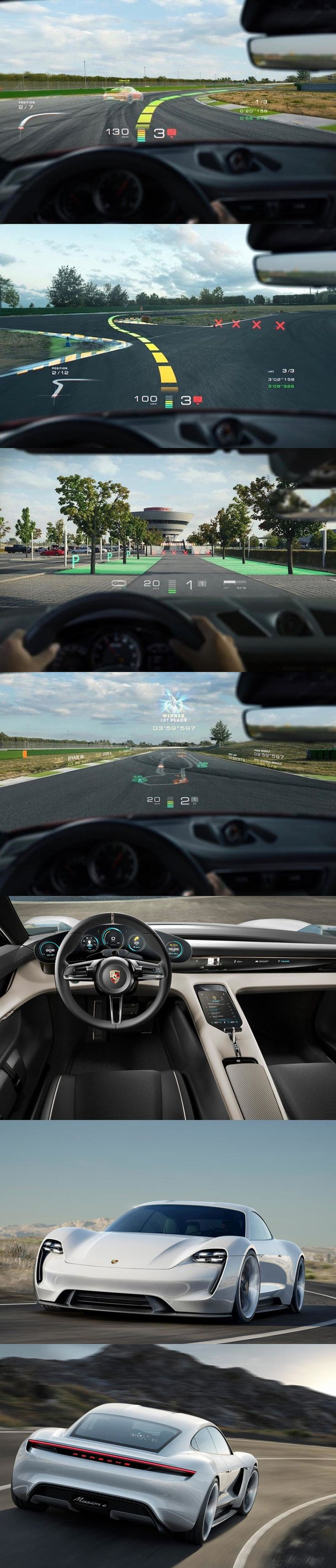 Your Next Porsche Could Have A Hologram On The Windshield. Video game technology used in real world conditions.