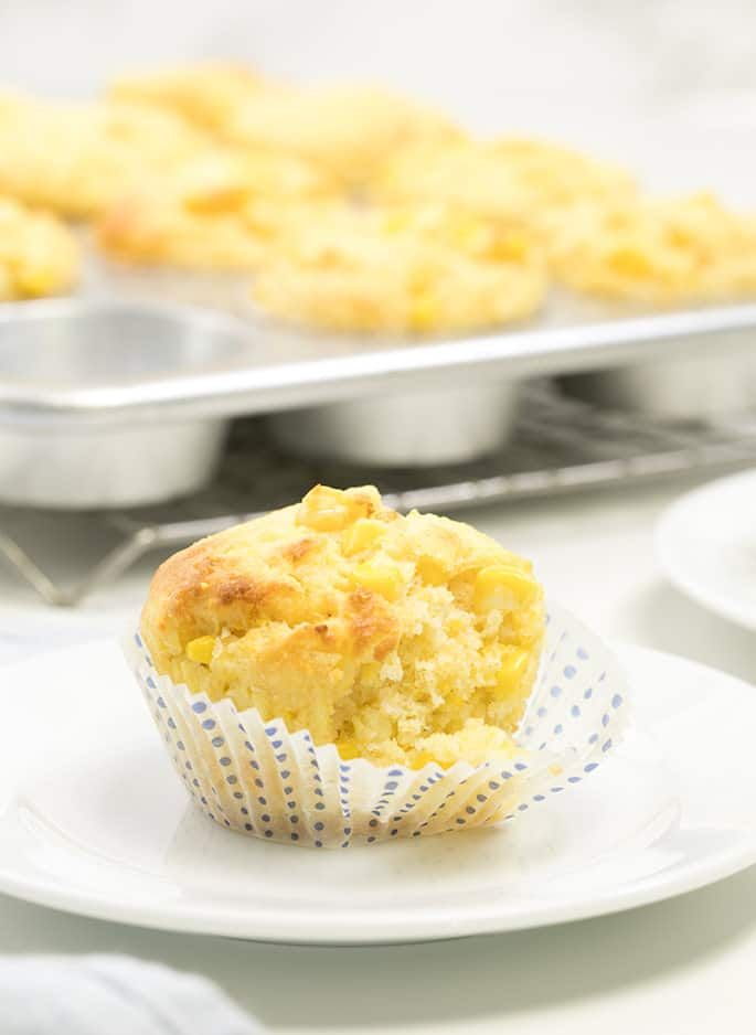 Moist and tender homemade gluten free corn muffins made with sour cream and packed with sweet fresh corn kernels. Make the most of summer's sweetest vegetable!