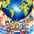 Every Nation is United, Fly High to Declare World Peace
