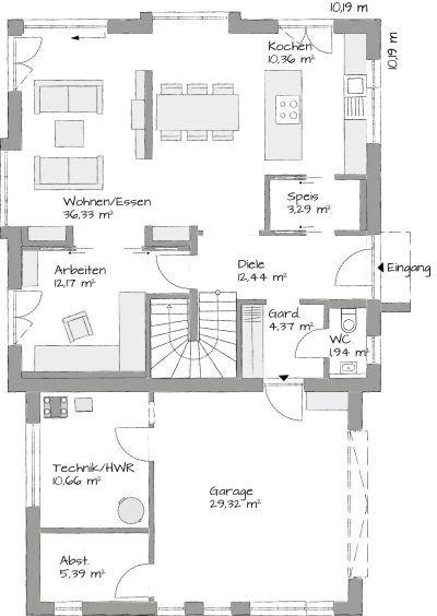 Grundriss Erdgeschoss – Christoph Steinwandtner