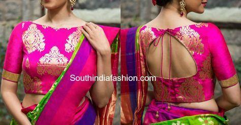 brocade saree blouse designs photo