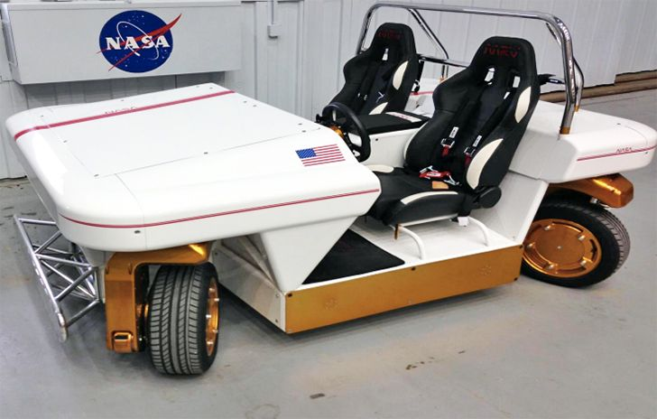 NASA's self-driving electric car isn't sexy, but it can move sideways like a crab | Inhabitat - Sustainable Design Innovation, Eco Architecture, Green Building