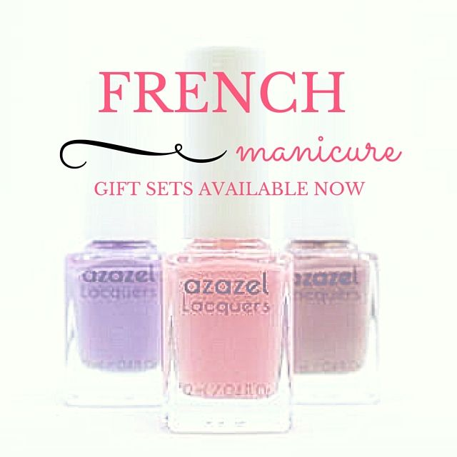 FRENCH MANICURE GIFT SETs by azazel Lacquers is now available to purchase on Etsy. The perfect Christmas gift for health-conscious beauties. azazel Lacquers products are made using 5 FREE Formula, is vegan and cruelty-free.