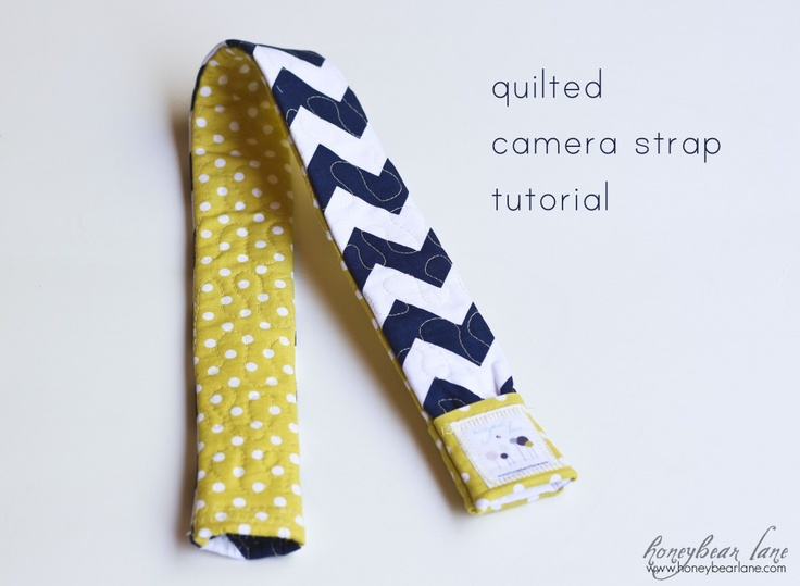quilted camera strap tutorial: Covers Tutorials, Crafts Ideas, Sewing Projects, Honeybear Lane, Camera Straps Covers, Camera Strap Cover, Camera Straps Patterns, Straps Tutorials, Quilts Camera