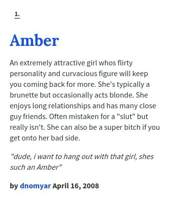 What Does Amber Mean In The Urban Dictionary
