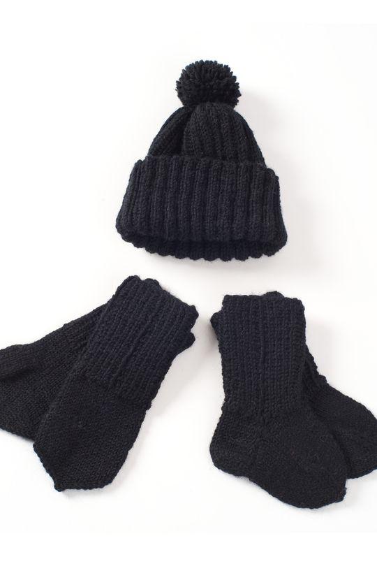 Neulottu vauvan pipo, lapaset ja sukat Novita Nalle | Novita knits