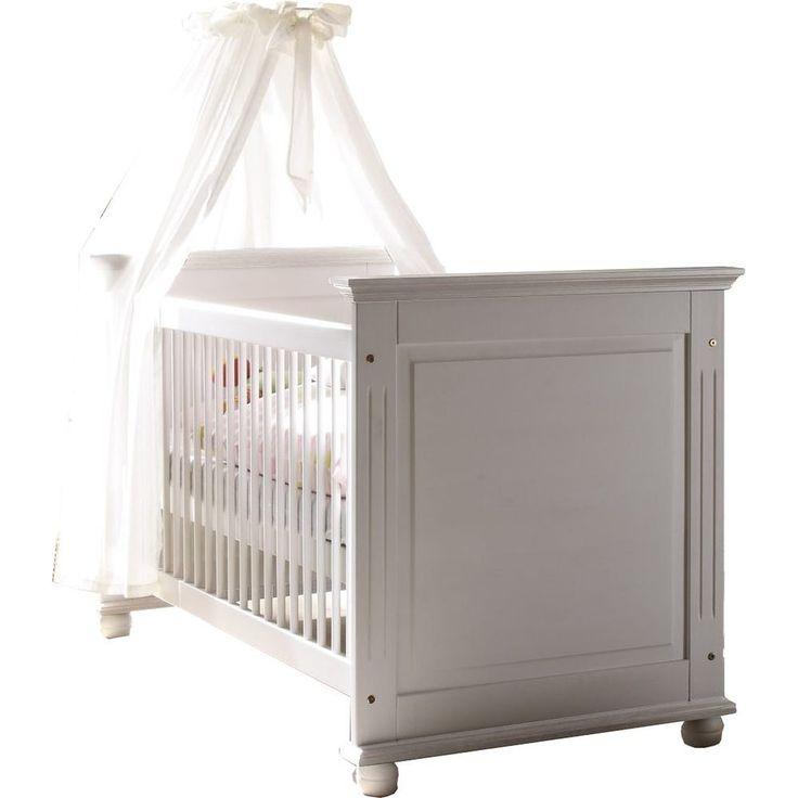 Ideal Babyzimmer Laura wei Babybett x Kiefer massiv g nstig M bel kaufen