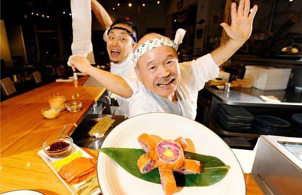 Hidekazu Tojo makes his famed sushi at Tojo's Restaurant in Vancouver.