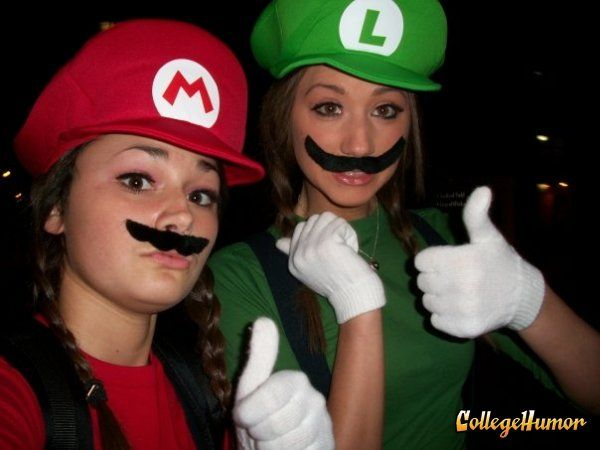 The 50 Sexiest Nerd Costumes: Mario and Liugi