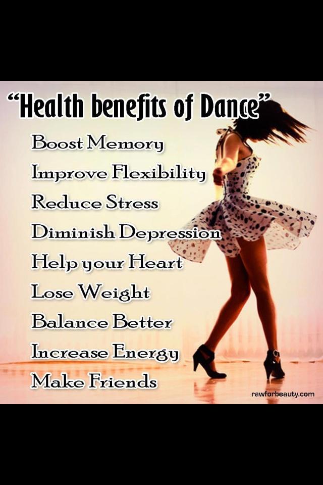 Health Benefits of Dance. yo creo y siento, que lo principal es la expansión del alma.