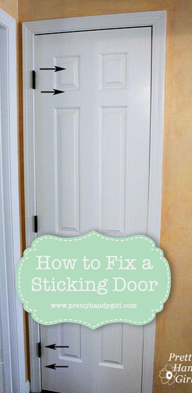 Day 30 - Fixing a Sticking Door  Diy home repair, Door repair, Doors