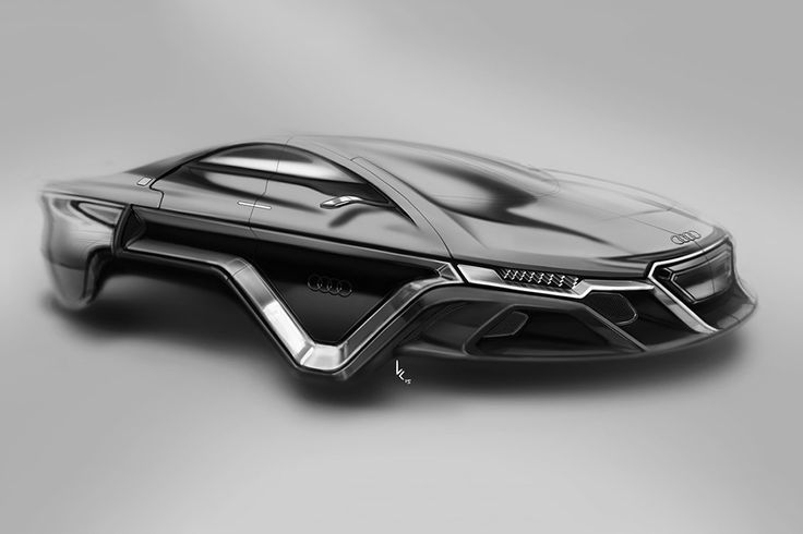 The sleek automobile has no axles or wheels, instead acting as a maglev-powered (magnetic levitation) hover vehicle.