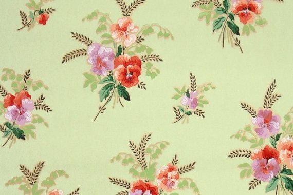 Hey, I found this really awesome Etsy listing at https://www.etsy.com/listing/168383814/1930s-vintage-wallpaper-floral-wallpaper