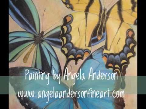 Time Lapse Butterfly Painting Video