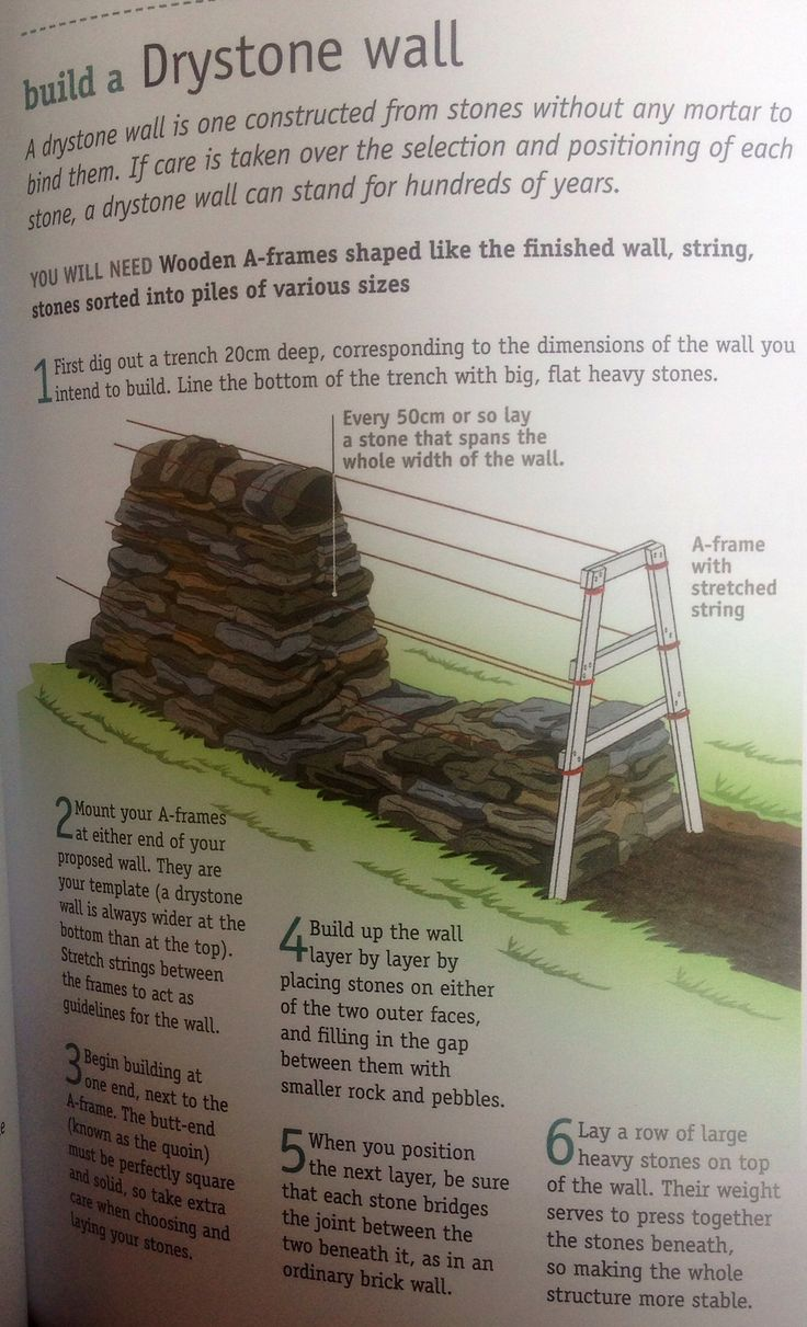 how to build a dry rock wall