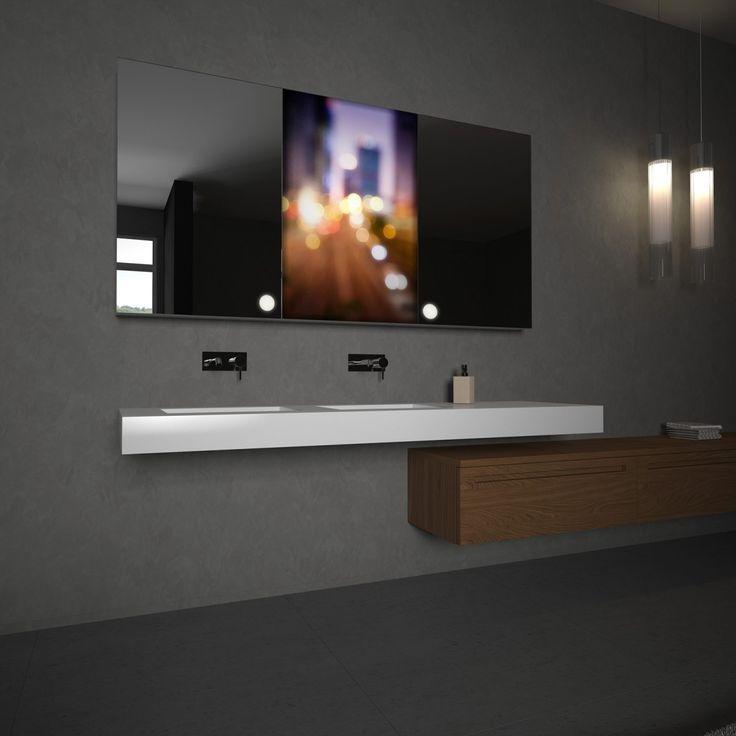 Spiegelschrank mit Glasbild Route Jetzt bestellen unter   - glasbilder für badezimmer